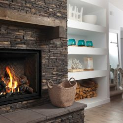 Marquis Gas Fireplaces Bentley Oak Log Herringbone