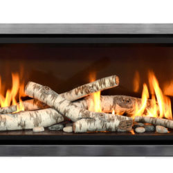 Mendota Gas Fireplaces ML47 Decor Grace Wide Nickel