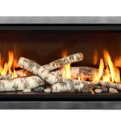 Mendota Gas Fireplaces ML47 Decor Grace Wide Nickel