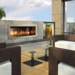 Regency Outdoor Gas Fireplace HZO42-3