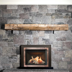 Valor Fireplace Inserts Driftwood G3.5 Fluted Black Liner Hammered Edgemont