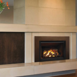 Valor Fireplace Inserts G4 Logs Black Fluted Liner Floating Trim Kit in Bronze
