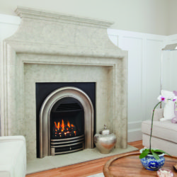 Valor Gas Fireplaces Portrait Classic Arch Coals Fluted Black Liner